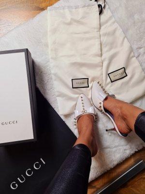 Gucci Tacones sin talón blanco-color plata