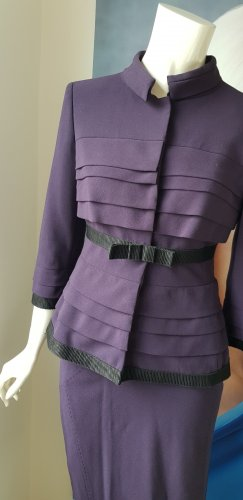 Alberta Ferretti Tailleur viola scuro
