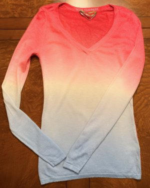Luxus (Frühjar Sommer) Cashmere Pullover von Dear Cashmere, wunderschön, rot und blau, Größe M (auch S XS)