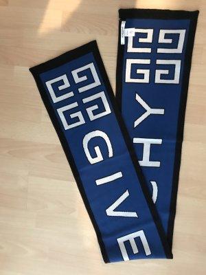 Givenchy Bufanda de lana azul-negro