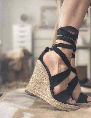 H&M Premium Sandales à talons hauts et plateforme multicolore