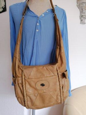 Bolsa de hombro camel Cuero