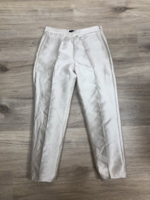 LUXUS J.CREW Ankle Pants Seidenhose Hose 7/8tel 3/4tel Seide Elfenbein Perlmutt