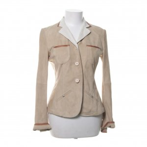 Luxus Jäckchen: Brunello Cucinelli Xs/S langarm Jackett Damen hellbeige Casual-Look elegant