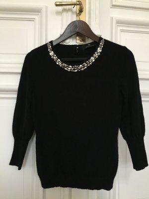 Luxus Kaschmir Pullover Rena Lange Perlen Collier Swarovski Schmuck Steine Pulli