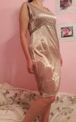 ☆ Luxus Kleid / CREAM / Gold / Hochzeit ☆