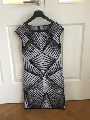 Luxus Kleid von MARC CAIN Gr.N3/38/M Viskose schwarz weiss Top hoher LP!!!