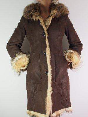 Manteau de fourrure bronze fourrure