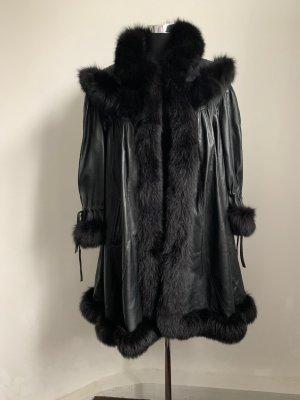 Luxus Kürschner-Mantel Leder-Pelz Kombination Kein Vintage! 40/42
