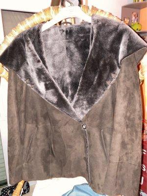 Fur Jacket dark brown-black brown