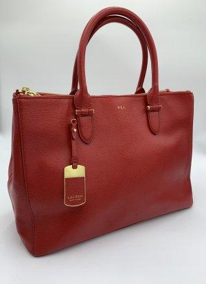 Luxus Ledertasche im rot von Ralph Lauren