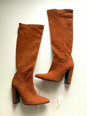 Luxus Mai Piu Senza Leder Stiefel 37 Orange Rost Wie Neu. NP 249€