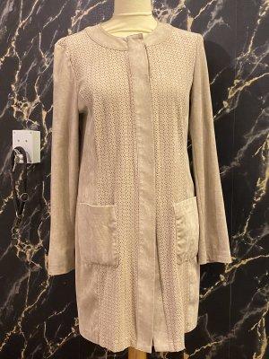 Luxus Mantel Gr. 38 Beige neu Velourleder