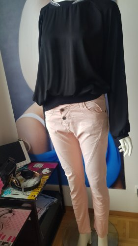 luxus outift high use shirt wie neu please jeans lightly rose 34/36