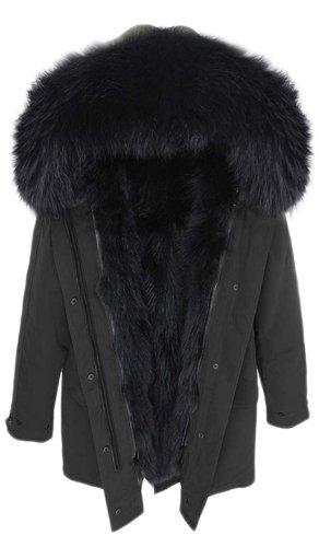 Manteau de fourrure noir