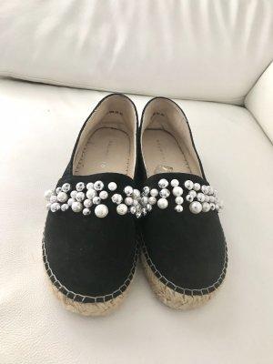 Luxus Perlen-Espadrille Größe 39 Echtleder mit Fußbett