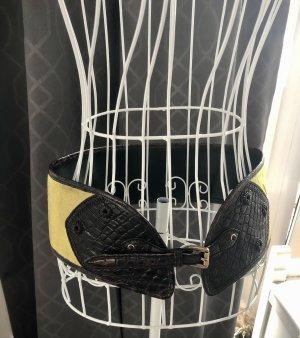 Luxus Pur! 1000€ Gucci Samt TaillenGürtel breit 80cm S/M 36 38 Echtleder