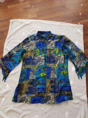 Maharani gastein Cols de blouses noir-turquoise