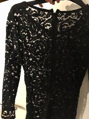 LUXUS Spitze Kleid Shirt Velvet
