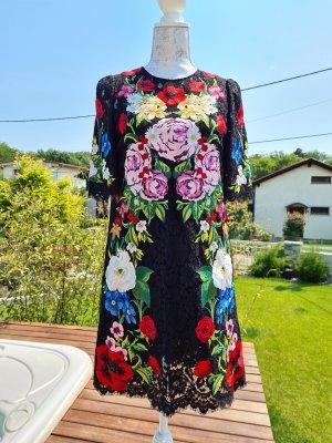 Luxus Spitzenkleid von Dolce Gabbana mit Blumenstickerei