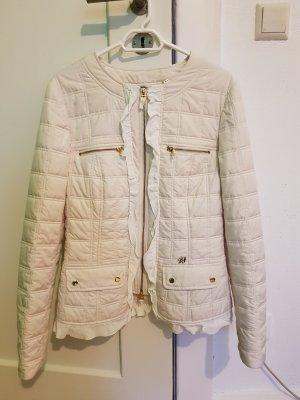 Luisa Spagnoli Pikowana kurtka w kolorze białej wełny