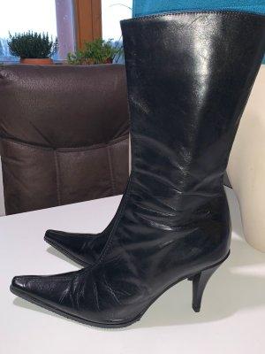 Vero Cuoio Heel Boots black leather