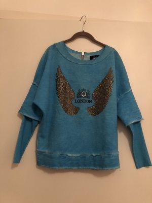 Arlette Kaballo Sweatshirt bleu clair-turquoise