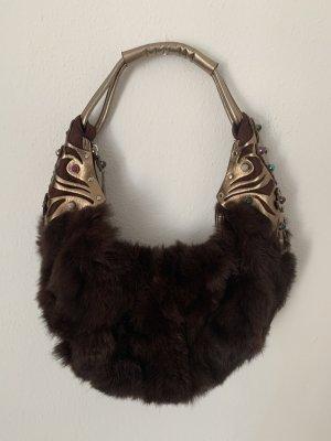 Luxus Tasche Felltasche mit Natursteinen von Nurage, NP: 380€
