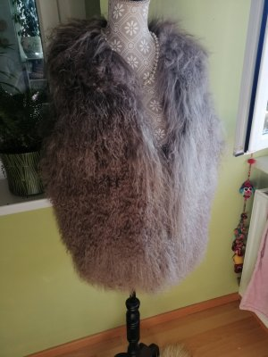 Fur Jacket multicolored alpaca wool