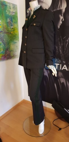 luxus Trachtenanzug echte hirschknöpfe dunkelgrau wie neu schloss orth collection Steiner Trachten bluse small