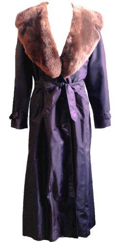 *  Luxus  Übergangs-Mantel  mit  echten  Nerzkragen  *  Gr. L-XL  *
