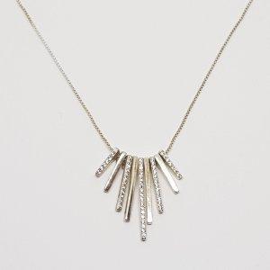Luxus Vintage 925 Sterling Silber Ketten Collier Anhänger facettierte Kristalle Swarovski steine