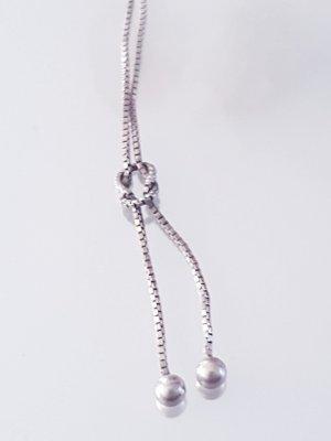 Luxus Vintage 925 Sterling Silberkette Collier Kugel necklace Halskette Silber kette