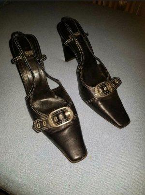 Luxus Vintage Leder Damen Pumps von Casadei Gr.9 (DE 38,5- 39)