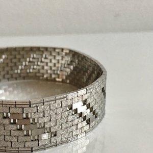 Luxus Vintage Massiv 835 Silber Armband Silberarmband breit