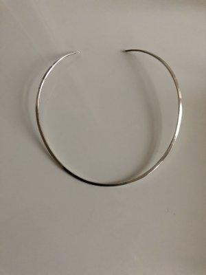 Luxus Vintage Modernist Modern Art 925er Sterling Silber Design Round Neck Collier Halsreif Juwelierarbeit