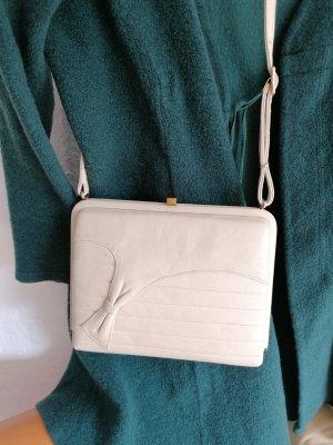 Bolsa de hombro blanco puro Cuero