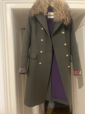 Bazar deluxe Winter Coat khaki-green grey