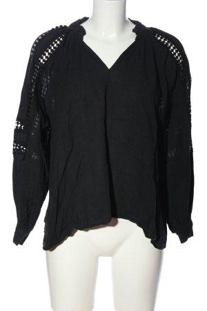 Luzabelle Langarm-Bluse schwarz Casual-Look