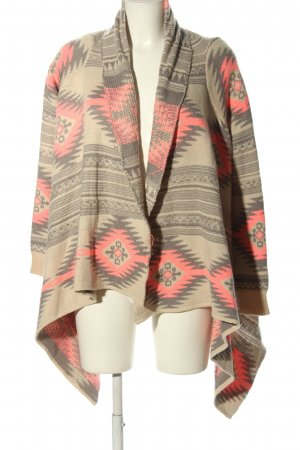Luzabelle Strick Cardigan grafisches Muster Casual-Look