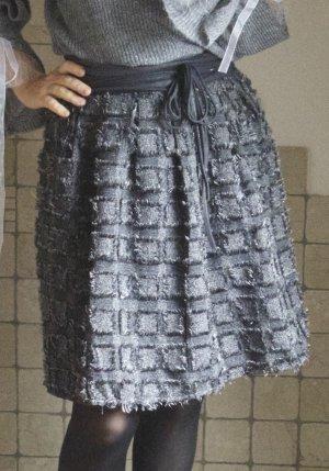 High Waist Skirt multicolored mixture fibre