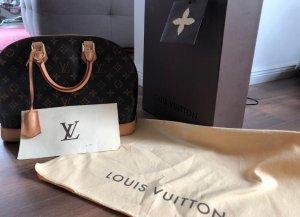Louis Vuitton Bandolera aviador marrón-negro