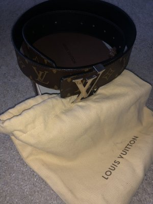Luis Vuitton Double Belt black-dark brown