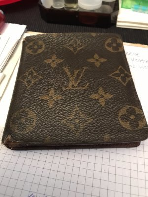 Louis Vuitton Card Case brown leather