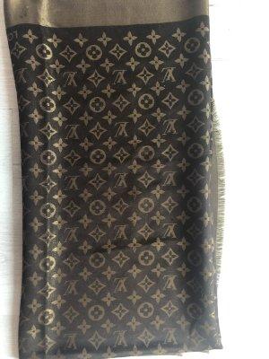 Louis Vuitton Jedwabny szal brąz