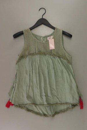 Lykkelig Ärmellose Bluse Größe 36 neu mit Etikett olivgrün aus Viskose