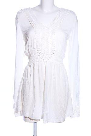 lykkelig Tunikabluse weiß Elegant