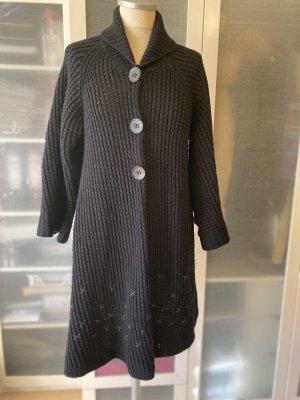 Cappotto a maglia nero