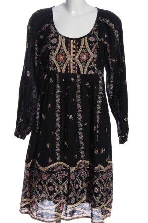 Lysgaard Sukienka z długim rękawem Abstrakcyjny wzór W stylu casual