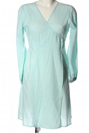 Lysgaard Sukienka z długim rękawem turkusowy Na całej powierzchni